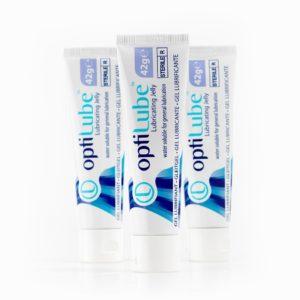 tubes de lubrifiant stériles de 42 grammes d'OptiLube