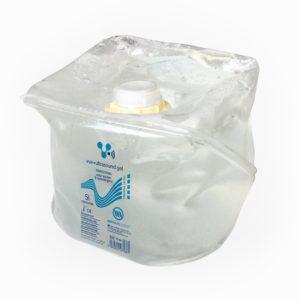 Vue Ultrasound gel Un conteneur souple pour usage multiple, spécialement développé avec un système pour qu'il n'y pas de gaspillage de gel.